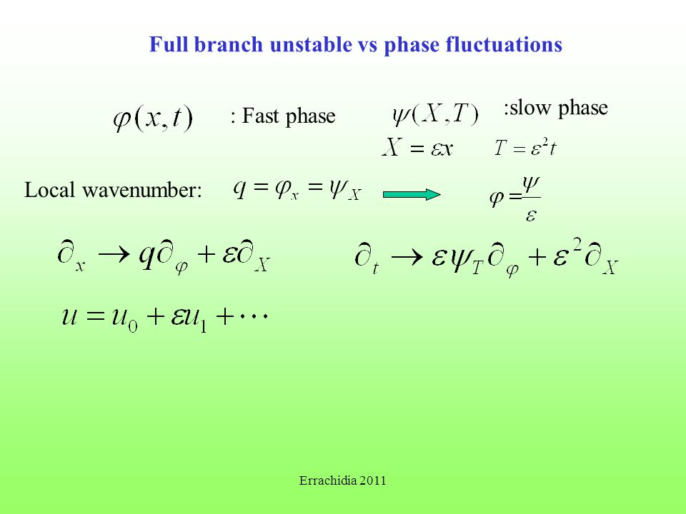 Full branch unstable vs phase fluctuations : Fast phase :slow phase Local wavenumber: Errachidia 2011