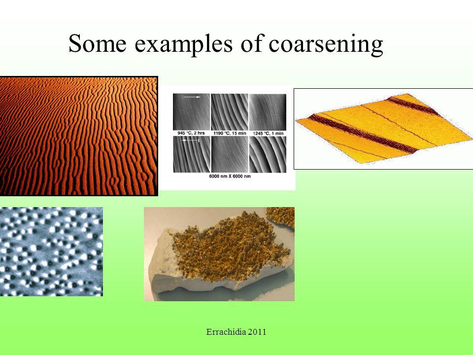 Some examples of coarsening Errachidia 2011