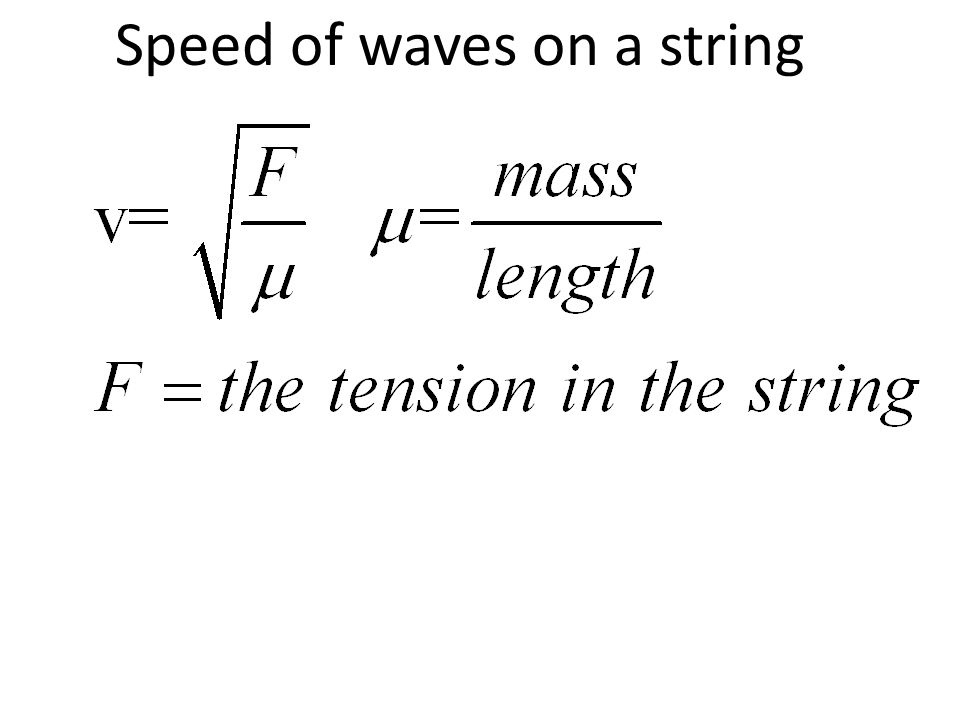Speed of waves on a string