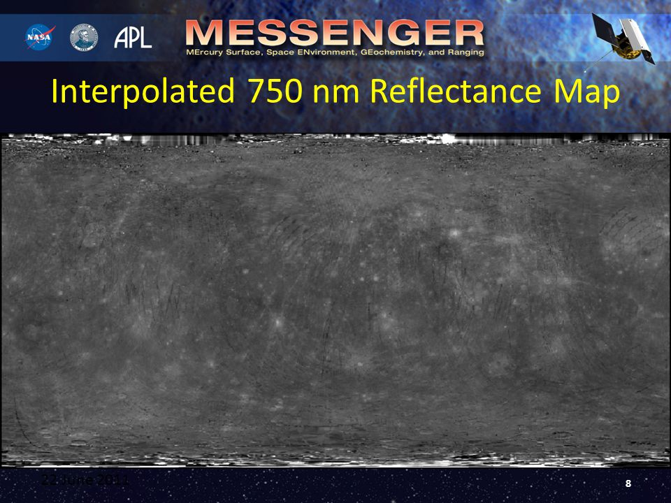 Interpolated 750 nm Reflectance Map 22 June 2011 8