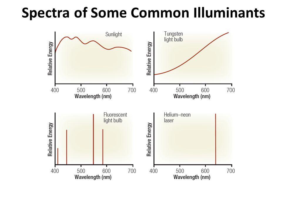 Spectra of Some Common Illuminants