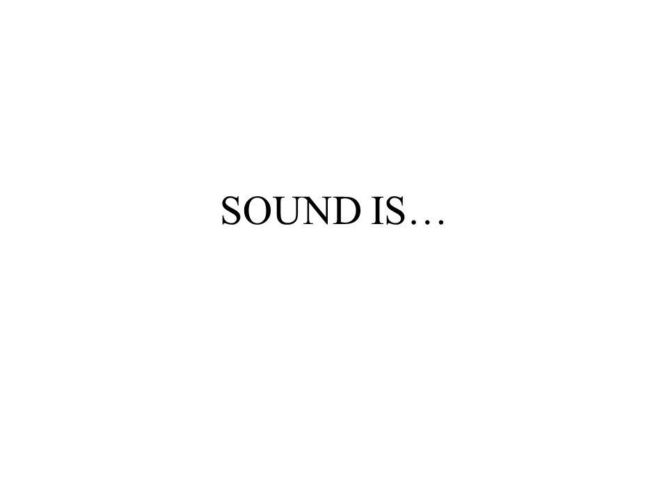SOUND IS…
