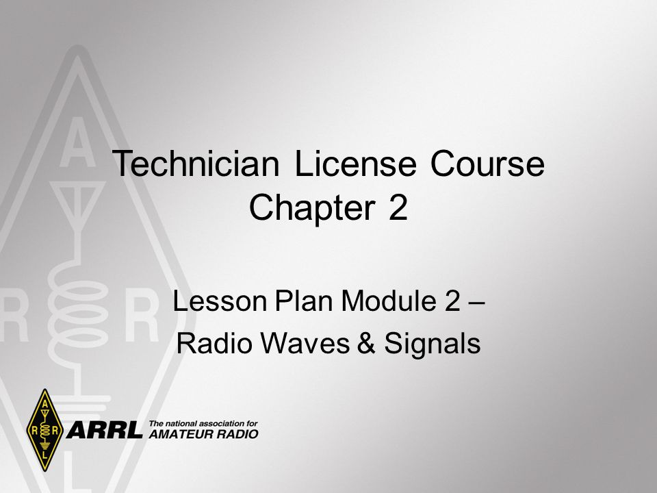 Technician License Course Chapter 2 Lesson Plan Module 2 – Radio Waves & Signals