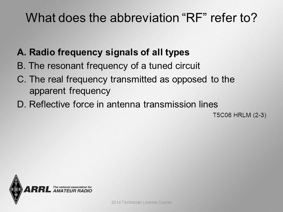 A. Radio frequency signals of all types B. The resonant frequency of a tuned circuit C.