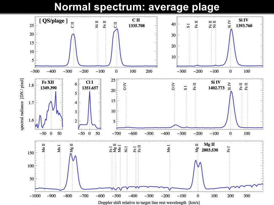 Normal spectrum: average plage