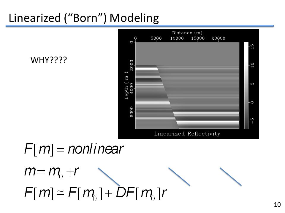 "12 Linearized (""Born"") Modeling 10 WHY????"