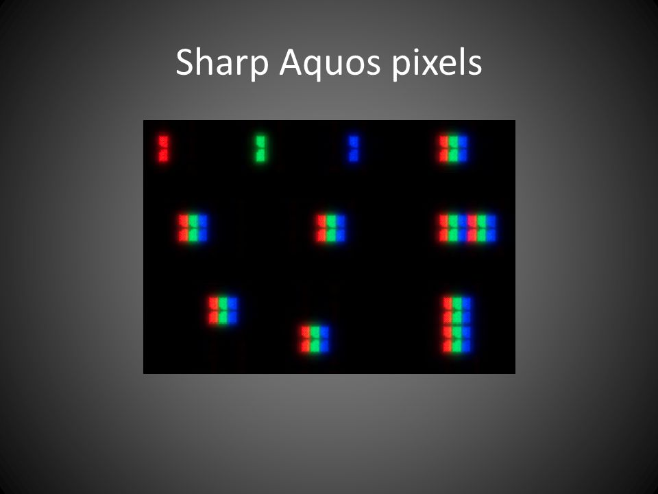 Sharp Aquos pixels