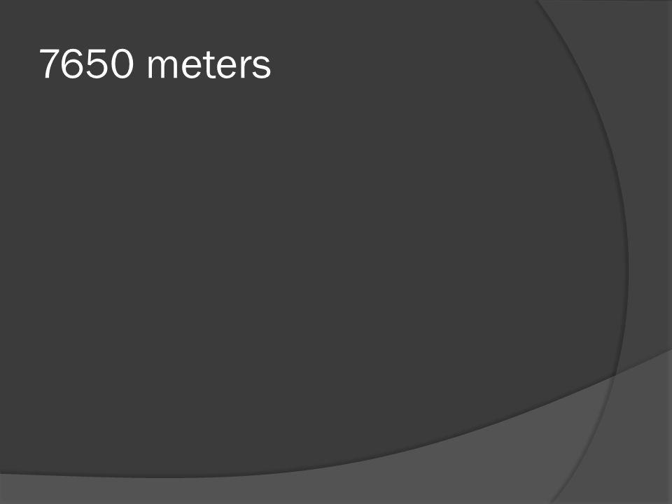 7650 meters