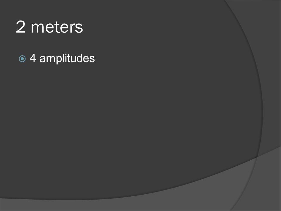 2 meters  4 amplitudes