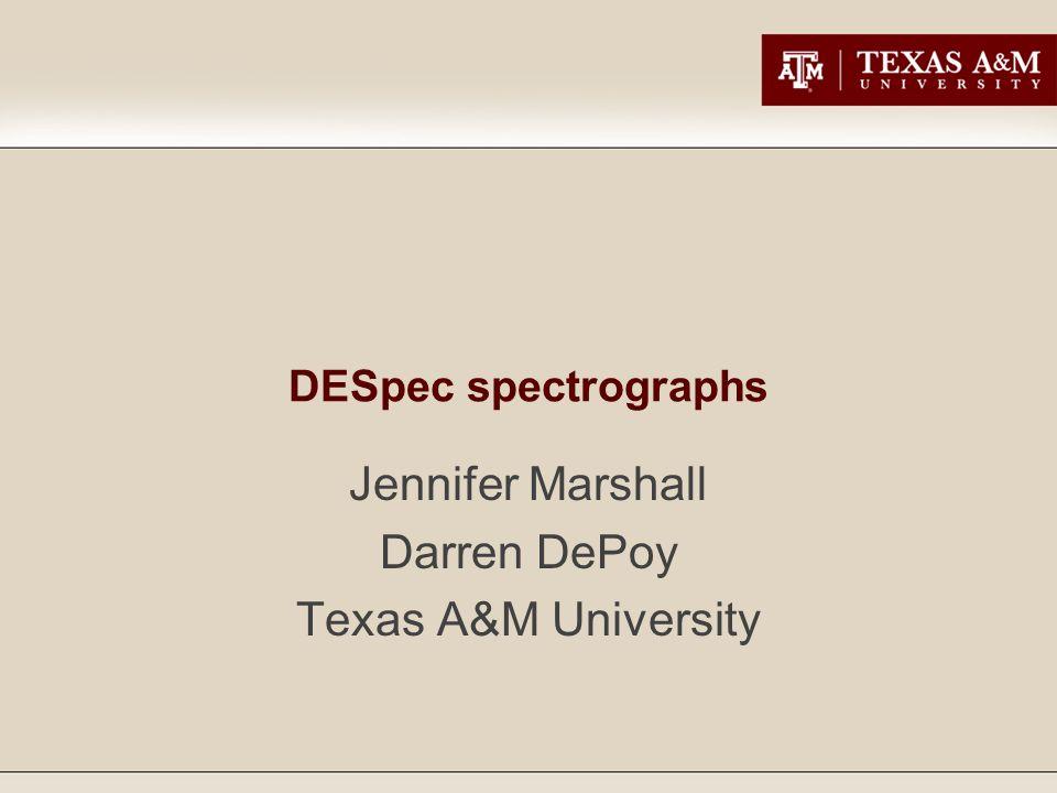 DESpec spectrographs Jennifer Marshall Darren DePoy Texas A&M University