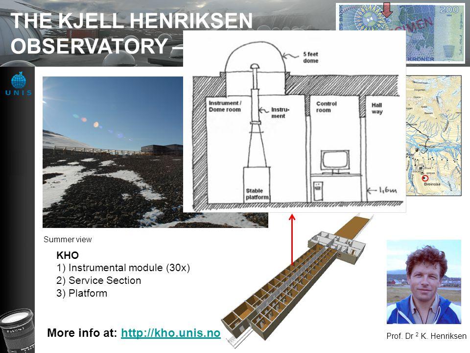 THE KJELL HENRIKSEN OBSERVATORY – KHO 2008 - Prof.