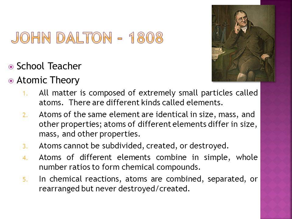  School Teacher  Atomic Theory 1.