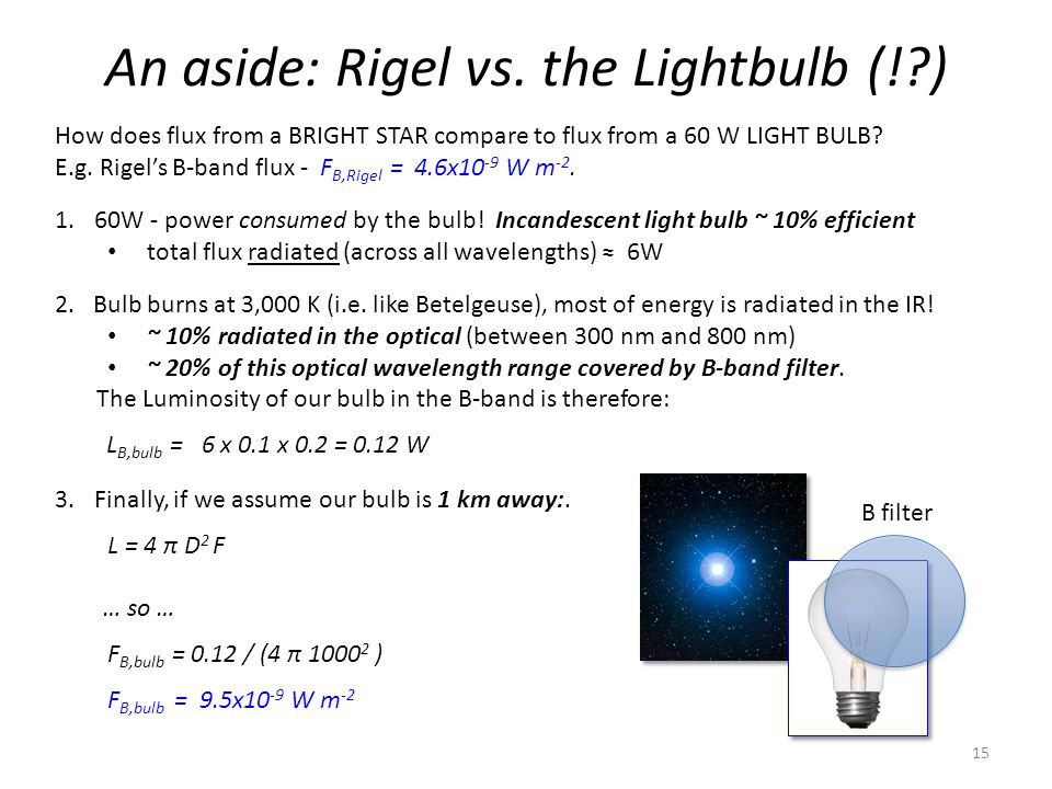 An aside: Rigel vs.