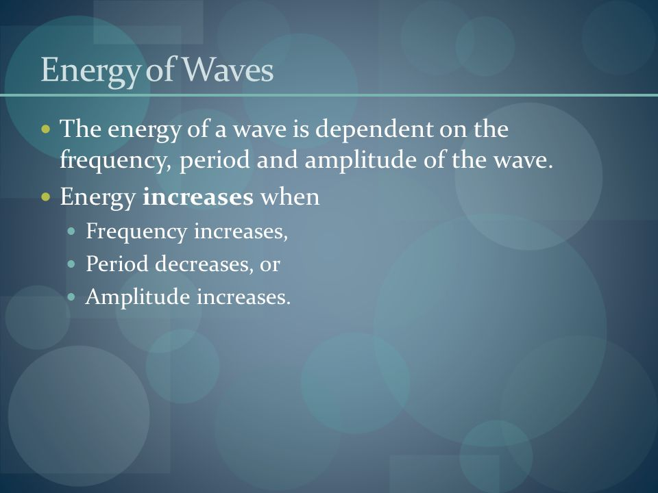 Types of Waves Transverse Waves: Oscillations move perpendicular to the motion of the wave.