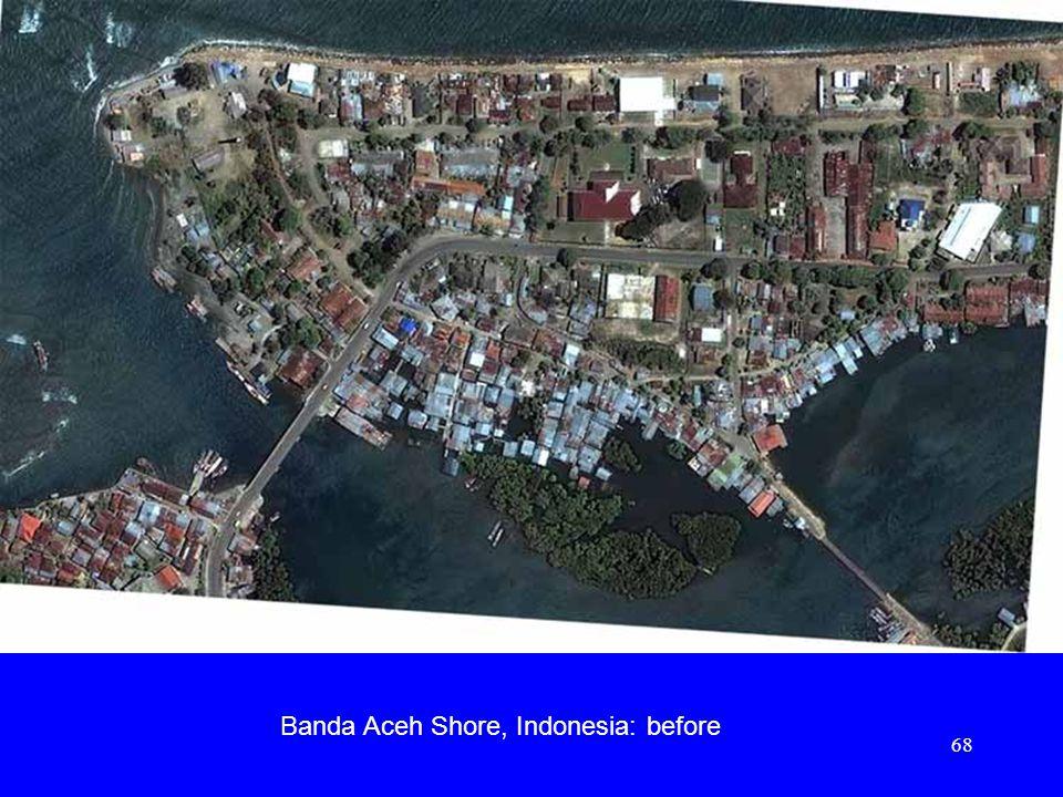 Banda Aceh Shore, Indonesia: before 68