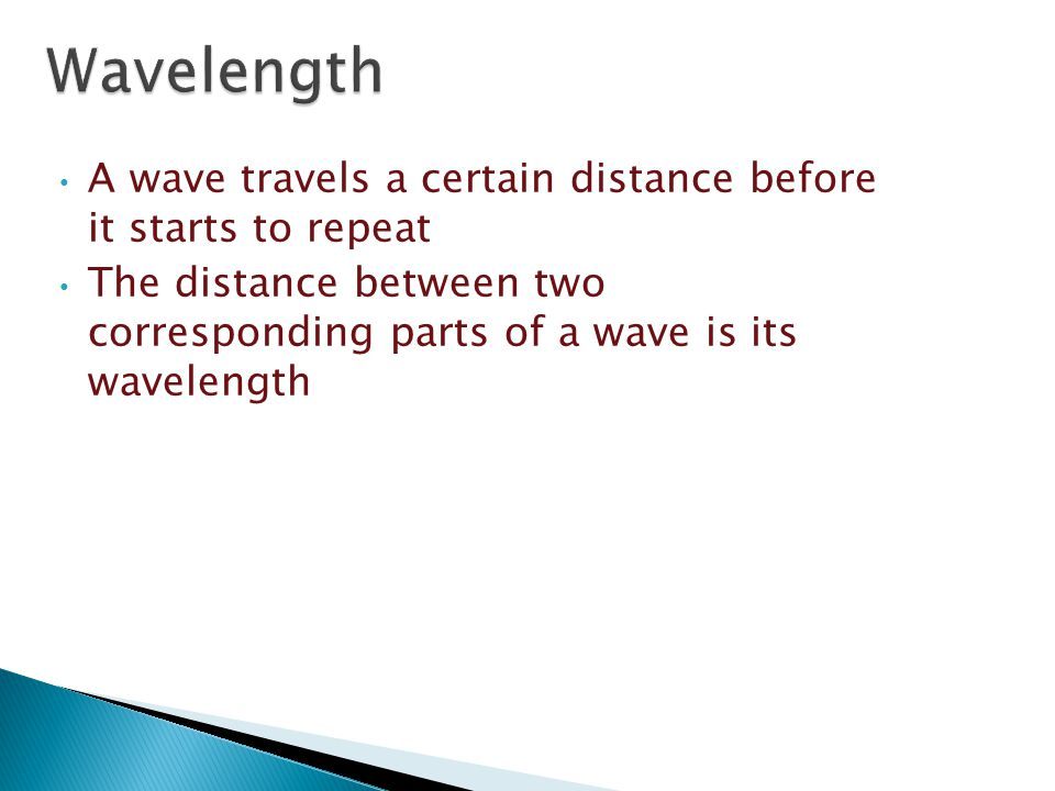  Find the wavelength of a transverse wave by measuring the distance from crest to crest or trough to trough.