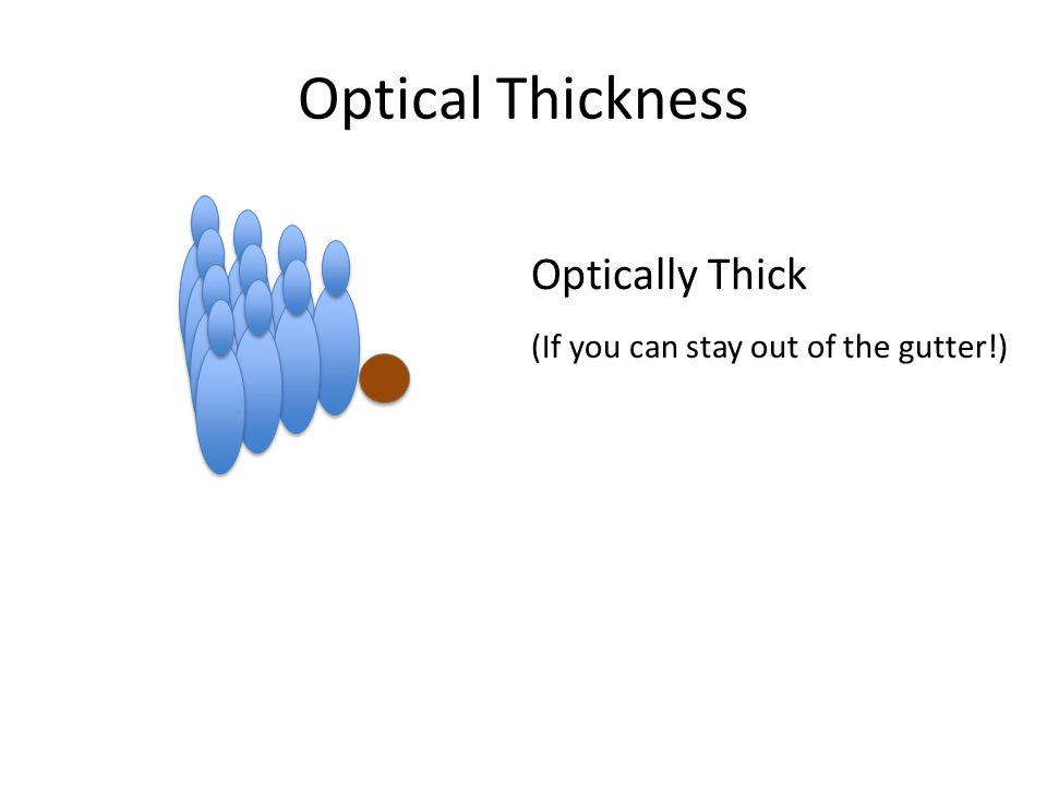 Optically Thick (If you can stay out of the gutter!) Optical Thickness