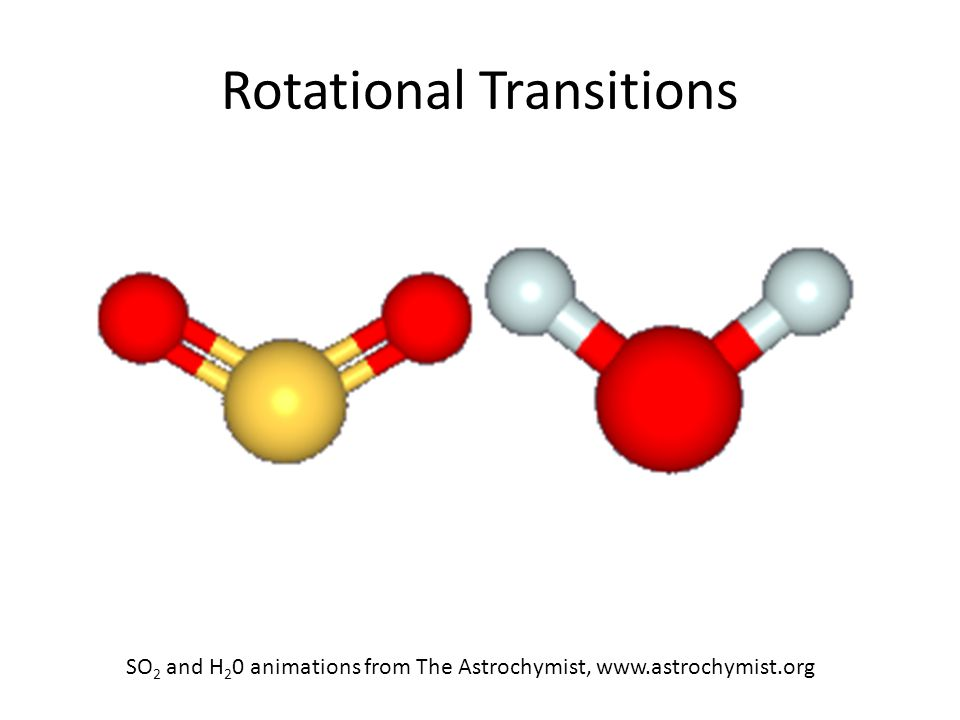 Rotational Transitions SO 2 and H 2 0 animations from The Astrochymist, www.astrochymist.org