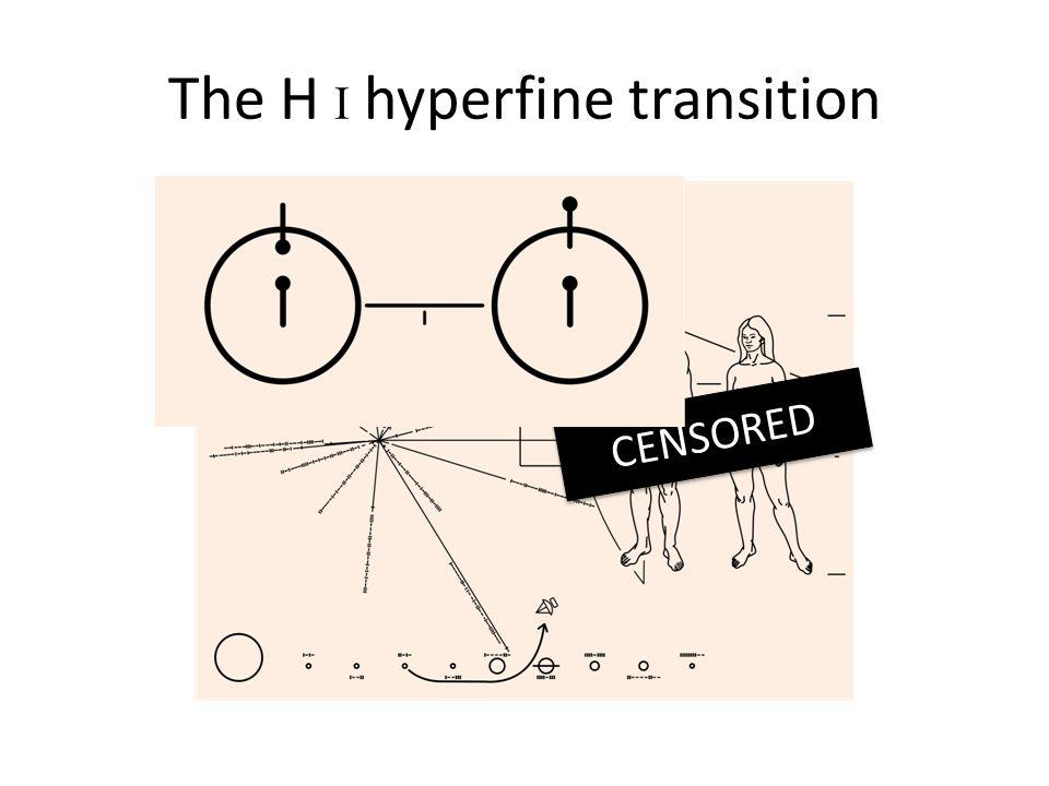 The H I hyperfine transition CENSORED