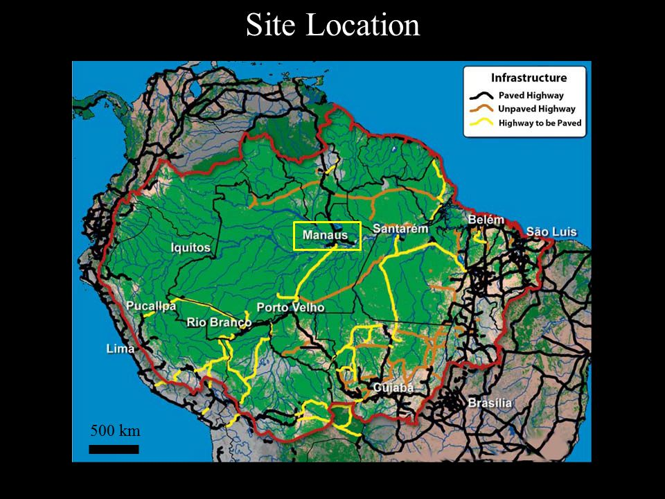 Site Location 500 km