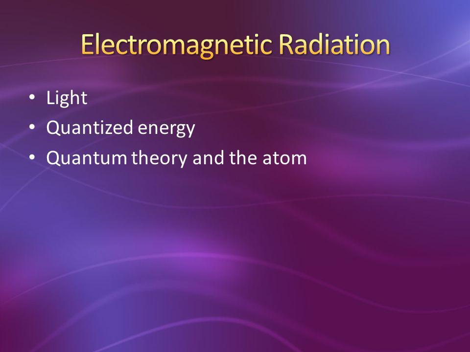 Light Quantized energy Quantum theory and the atom