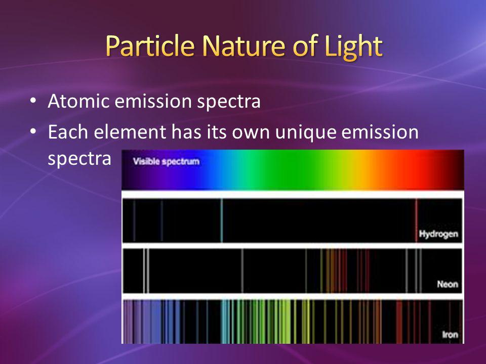 Each element has its own unique emission spectra