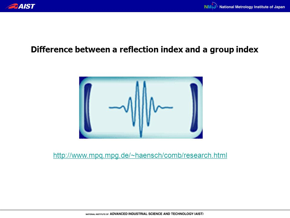 http://www.mpq.mpg.de/~haensch/comb/research.html Difference between a reflection index and a group index