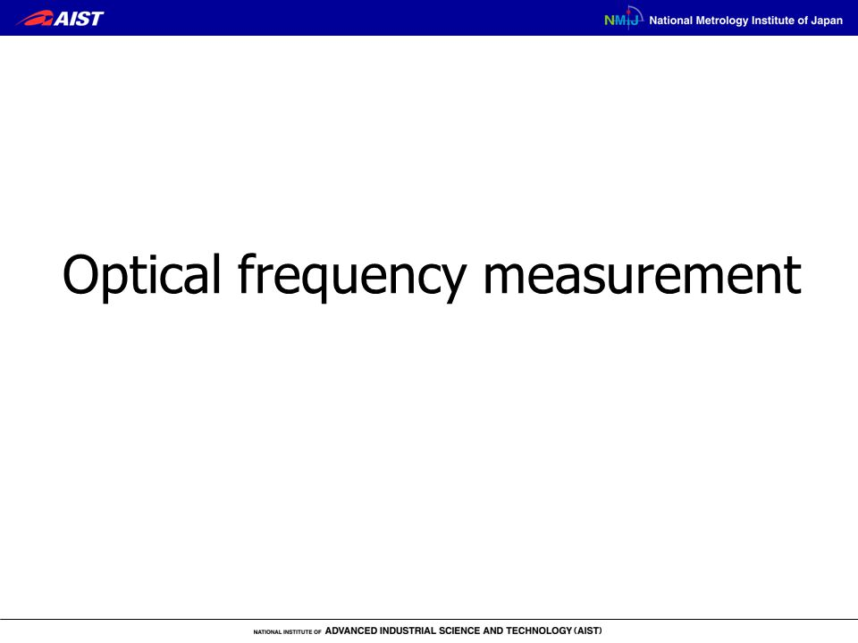 Optical frequency measurement