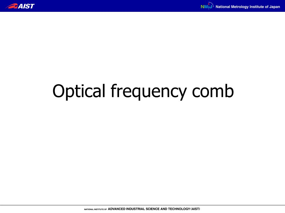 Optical frequency comb
