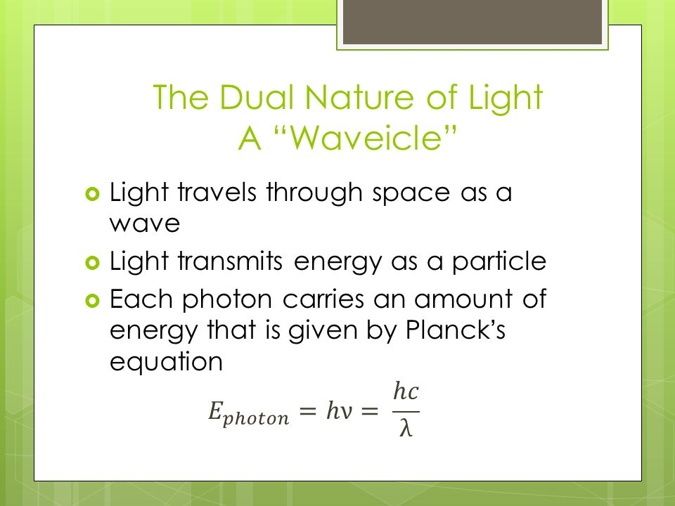 The Dual Nature of Light A Waveicle