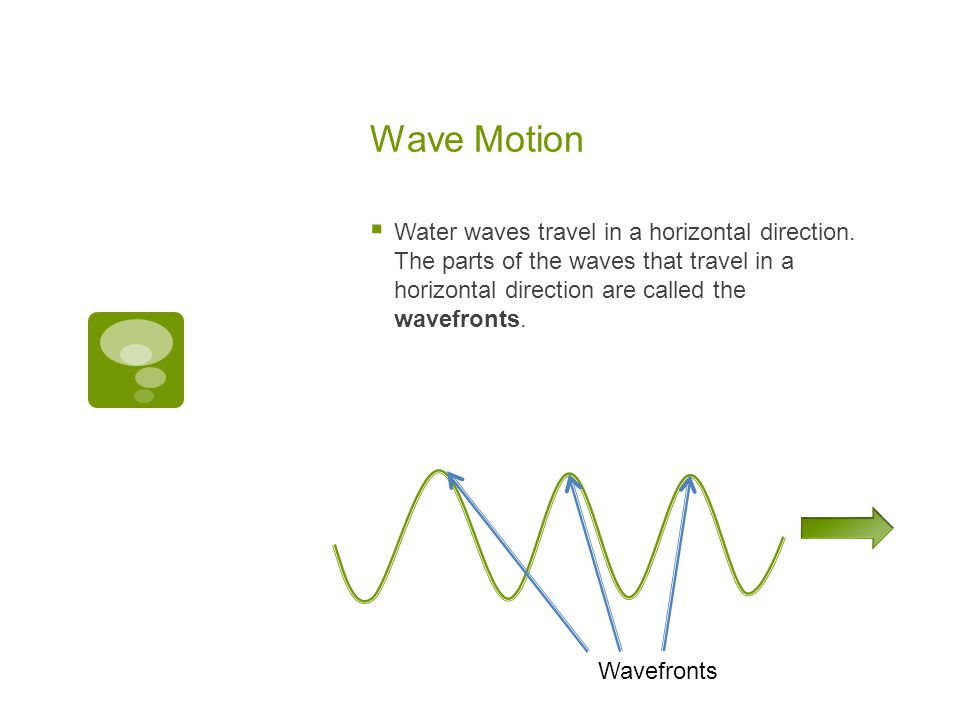 Wave Motion  If you are floating in water, what is your direction of motion.