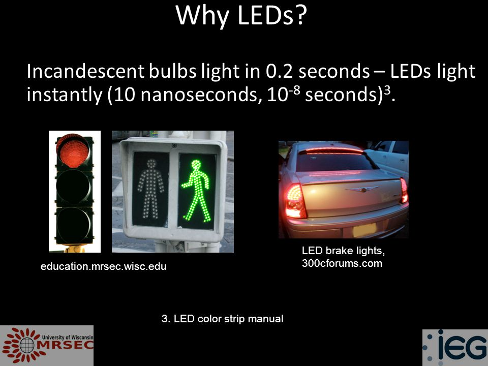 Why LEDs.