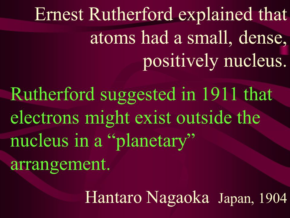 Thomson suggested the plum pudding model with many, many electrons throughout the atom.
