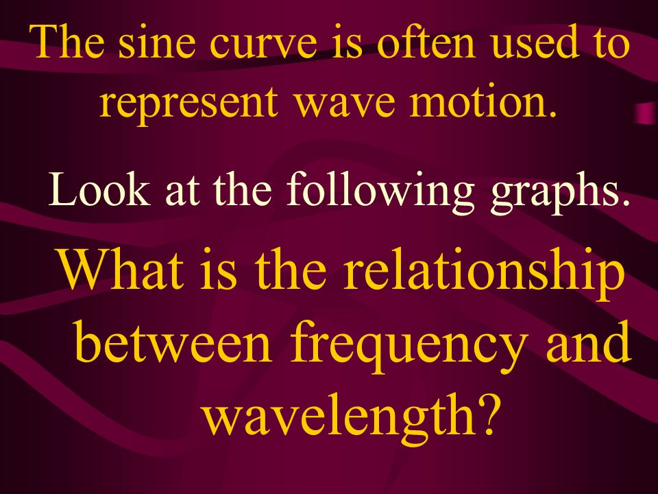 Wavelength Symbol:  Greek: lambda) Units: meters (m)  of radio waves in meters to micrometers.