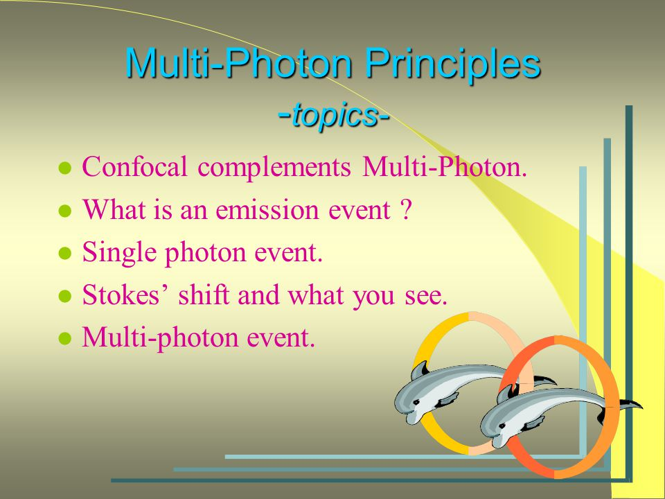 Multi-Photon Principles - topics- l Confocal complements Multi-Photon.