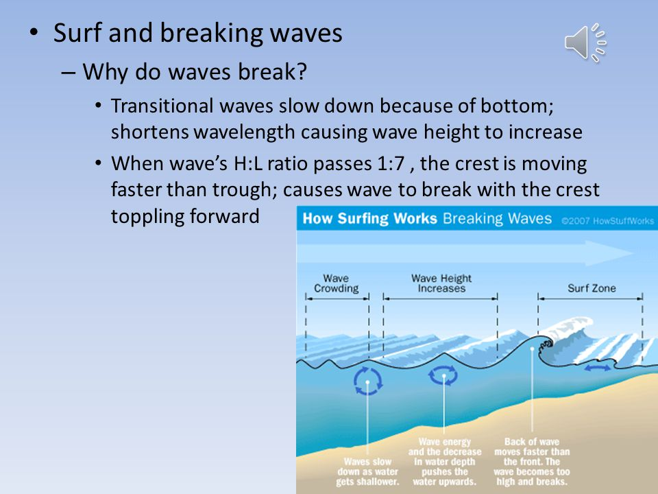 Wave size affected by: – Wind speed – Wind duration – Fetch- surface area over which wind blows