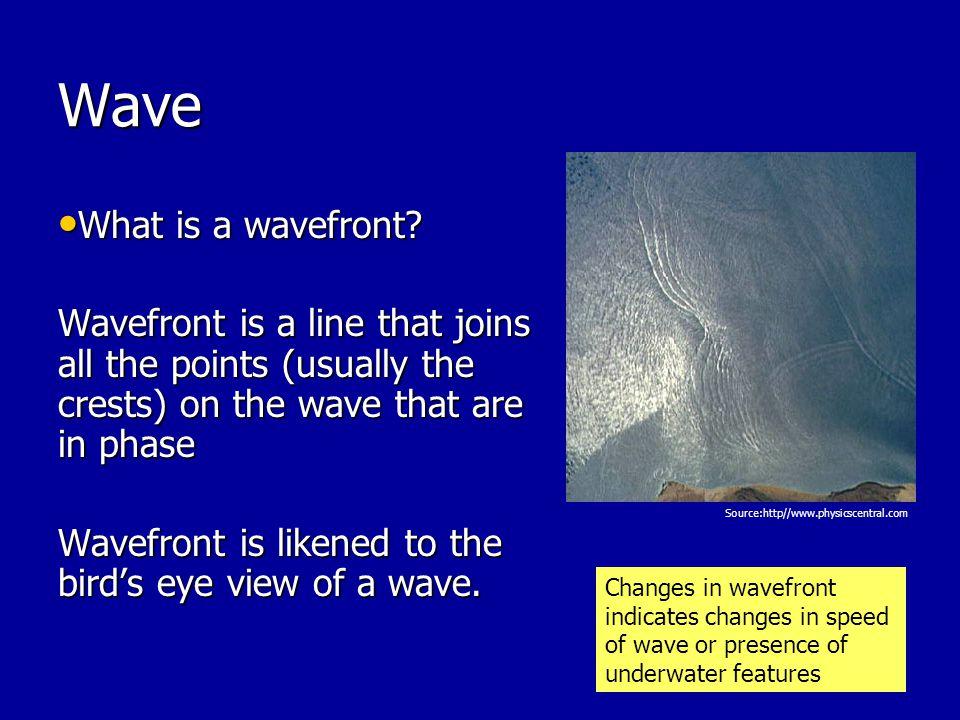 Wave What is a wavefront.What is a wavefront.