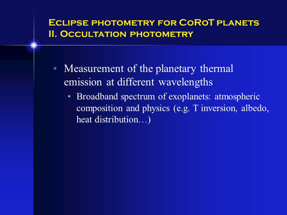 Eclipse photometry for CoRoT planets II.