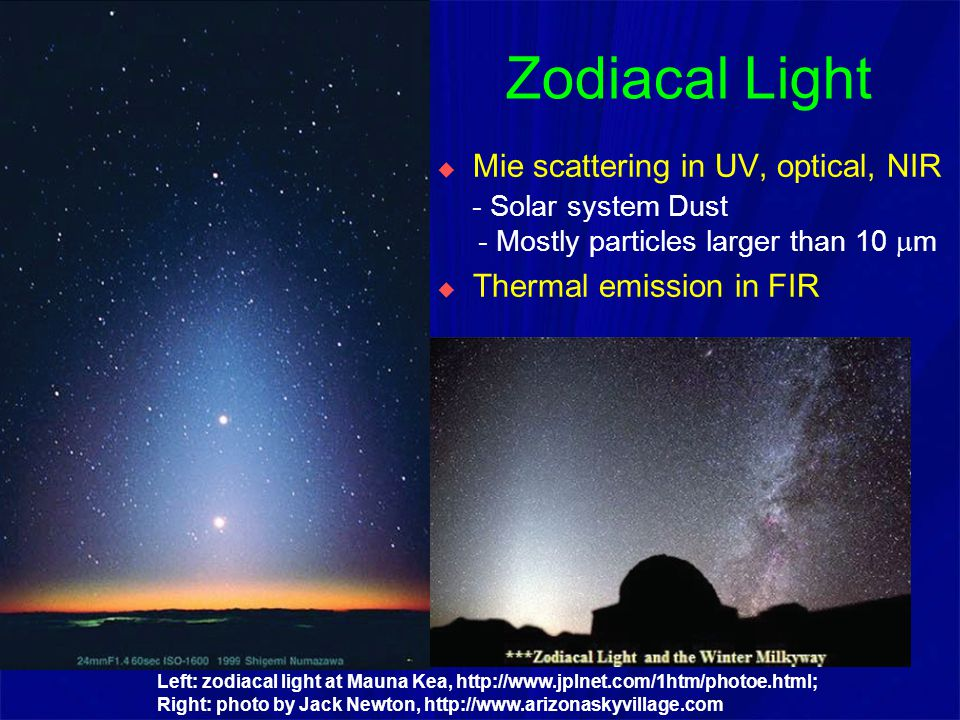 Comparison of Rayleigh & Mie Scattering http://hyperphisics.phy-astr.qsu.edu/hbase/atmos/blusky.html