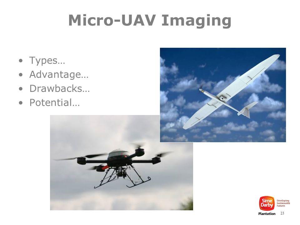 23 Types… Advantage… Drawbacks… Potential… Micro-UAV Imaging
