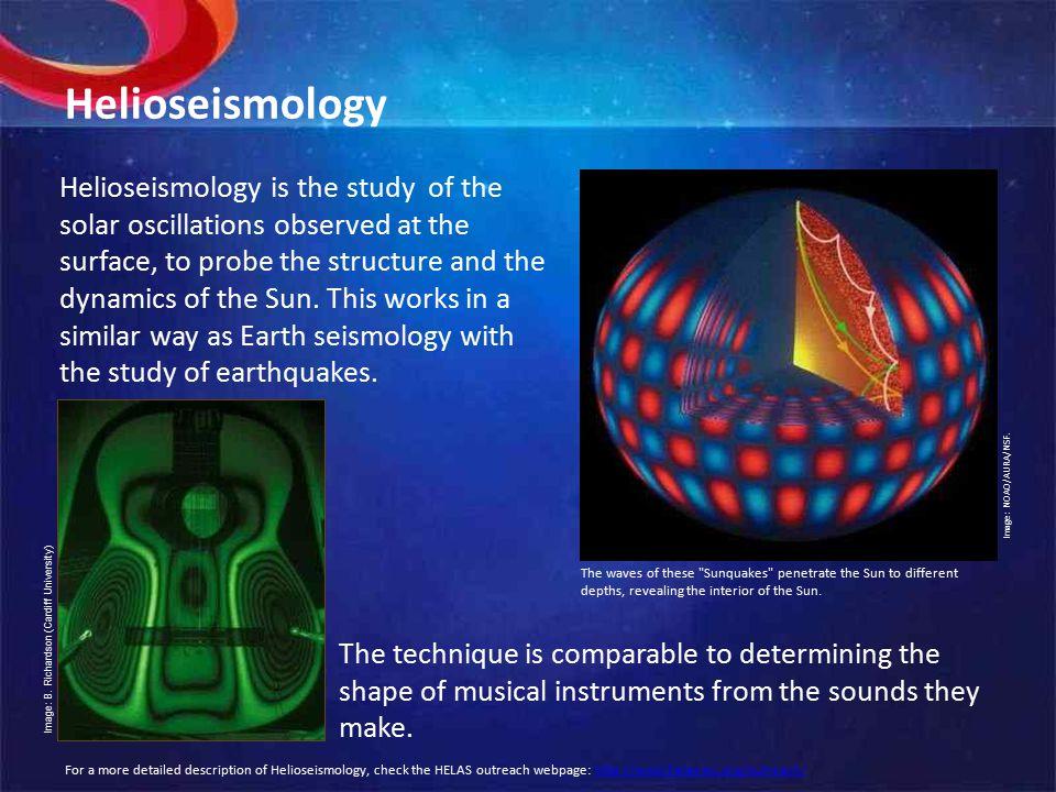 Helioseismology Image: NOAO/AURA/NSF.