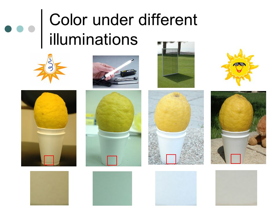 Color under different illuminations