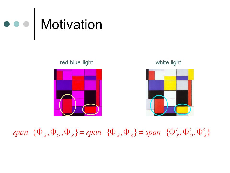 Motivation red-blue lightwhite light