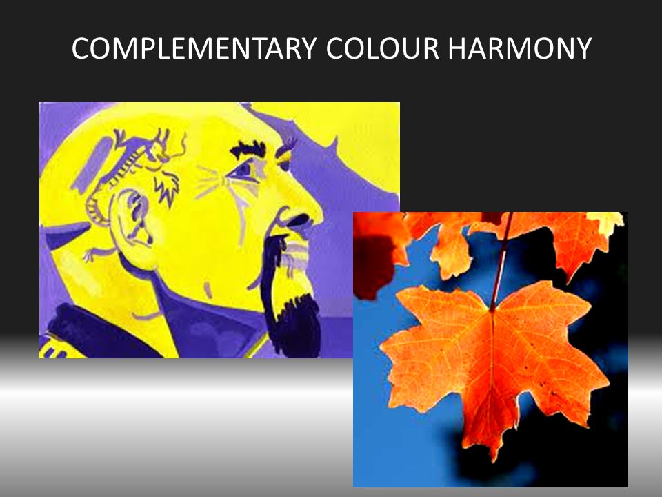 COMPLEMENTARY COLOUR HARMONY