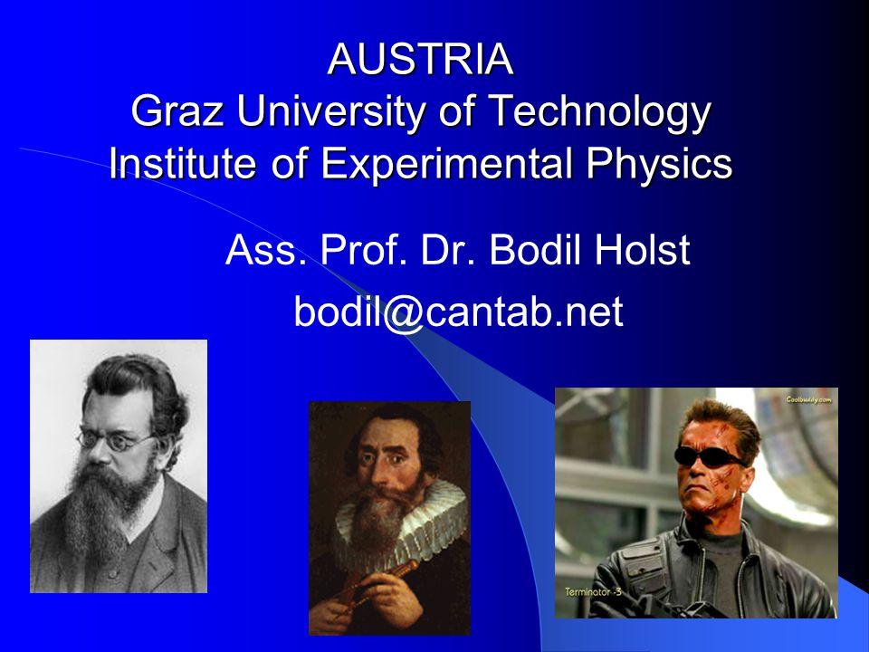 AUSTRIA Graz University of Technology Institute of Experimental Physics Ass.