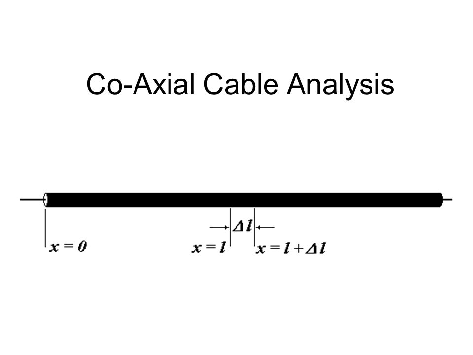 Co-Axial Cable Analysis