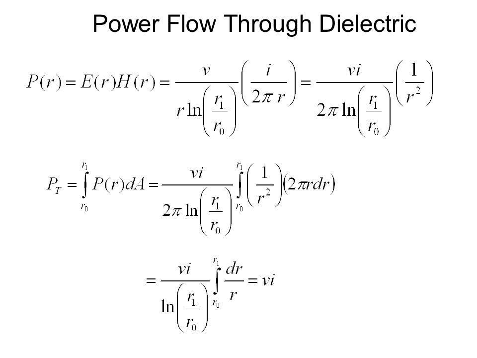 Power Flow Through Dielectric