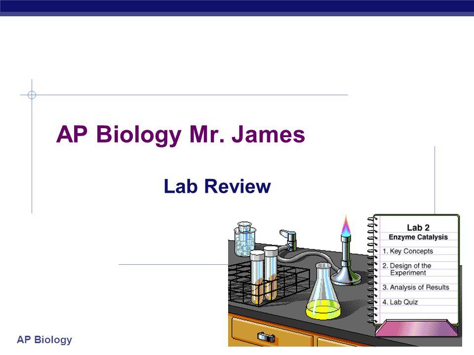 AP Biology 2004-2005 AP Biology Mr. James Lab Review