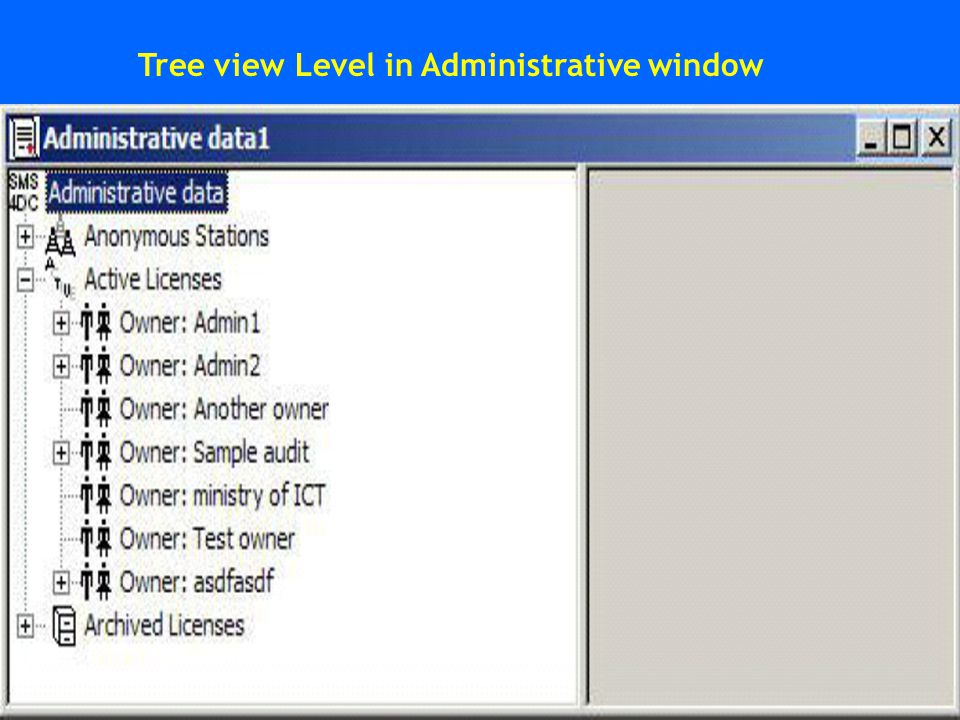 Tree view Level in Administrative window