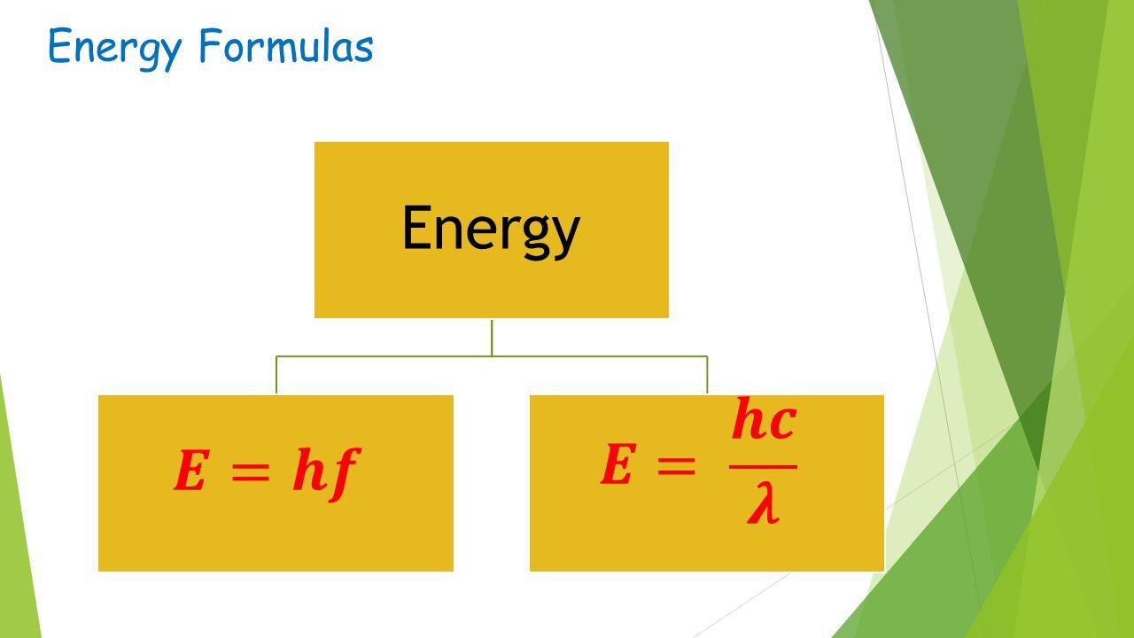 Energy Formulas Energy